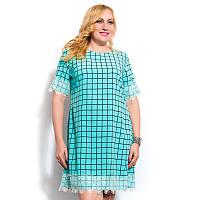Женское платье большого размера в клетку