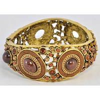 Стильный изысканный с коричневыми камнями браслет. Хорошее качество. Доступная цена. Дешево.  Код: КГ1212