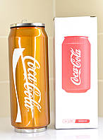 Термокружка Coca-cola Золотая термос 450 ml  герметичный Старбакс ,бутылка с поилкой