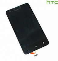 Дисплейный модуль (дисплей + сенсор) для HTC T528D One SC, черный, оригинал