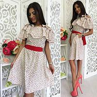 Фиеста летнее платье ткань супер софт размеры 42-44 44-46 46-48 48-50