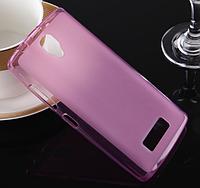 Силиконовый чехол накладка для Lenovo A5000 Pink