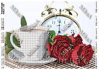 """Схема для частичной вышивки бисером 1291 - """"Утренний кофе"""""""