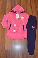 Трикотажный костюм-двойка  для девочек Grace. Оптом,Размеры116-146 см,