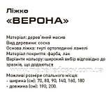 Кровать Верона односпальная 90 (Мебигранд/Mebigrand) 970х2170(2270)х790мм , фото 3