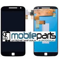 Оригинальный Дисплей (Модуль)+Сенсор (Тачскрин)  для Motorola Moto G4 XT1625  (Черный)