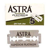 Astra Superior Platinum Double Edge Razor Blades Двусторонние лезвия 5 шт