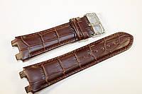 Кожаный ремешок ORIENT для часов-коричневого цвета с натуральной кожи выделкой под аллигатора