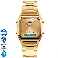 Металлические часы Skmei 1220 Gold Классические Водостойкие