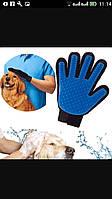 Рукавица для расчесывания шерсти у собак