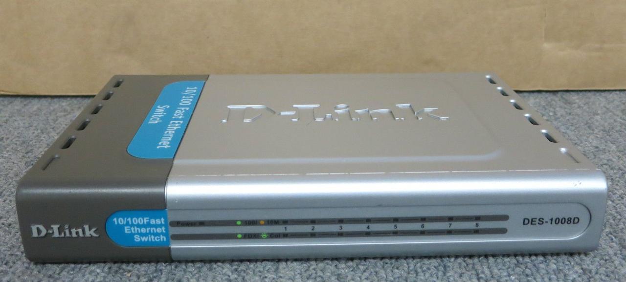 Коммутатор D-Link DES-1008D с 8 портами бу