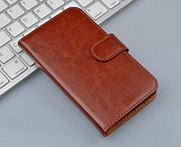 Кожаный чехол-книжка для Samsung galaxy j1 mini J105 коричневый