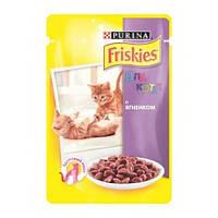 Консервы Friskies Junior для котят с ягненком, 100 г