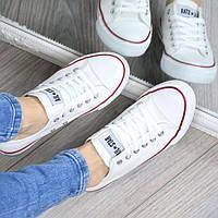 Кеды женские All Star Белые 3285, мокасины женские