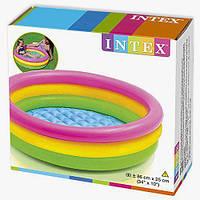 """Детский надувной басейн Intex 58924 """"Радужный"""" 86*25 см"""