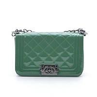 Женская сумка клатч Шанель зеленая