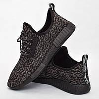 Мужские кроссовки черные (Код: DRM-305)