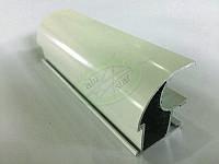 Профиль алюминиевый для раздвижных дверей, цвет белый