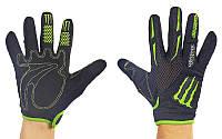 Мотоперчатки текстильные с закрытыми пальцами Monster Energy 4637: текстиль, M-XL