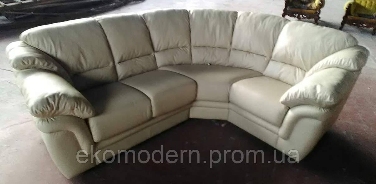 Угловой кожаный диван Лондон - 304
