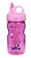 Бутылка Nalgene Grip'n Gulp 350ml Pink Woodland Art