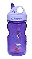 Бутылка Nalgene Grip'n Gulp 350ml Purple Hoot Art