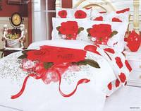 Постельное белье Le Vele семейное в букет красных роз
