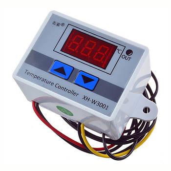 Термореле термостат температурное реле терморегулятор XH-W3001 питание на 12В