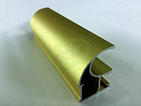 Профиль алюминиевый для раздвижных дверей, цвет золото
