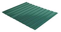 Профнастил фасадный С-10 (цвет 6005 - зеленый, глянец) металл Китай