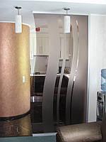 Стеклянные перегородки стационарные с рисунком, фото 1