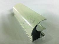 Профиль алюминиевый для раздвижных дверей, цвет белый-9003