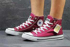 Женские Кеды Converse высокие бордовые 40,41, фото 3