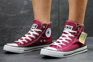Женские Кеды Converse высокие бордовые 40,41, фото 2
