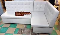 Мягкий кухонный уголок Квадро 110х180см серый