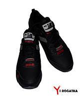 Мужские кожаные кроссовки SPLINTER, черные, нашивка