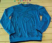 Модный   реглан на мальчика голубой  на рост 134-164 см