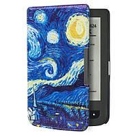 Обложка чехол для PocketBook 615/614 Basic 2/624 Basic Touch/625/640 Aqua/626 Touch Lux 2/Lux 3 Звёздная ночь