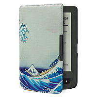 Обложка чехол для PocketBook 615/614 Basic 2/624 Basic Touch/625/640 Aqua/626 Touch Lux 2/Lux 3 Большая волна