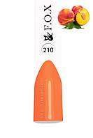 Гель-лак FOX № 210 (яркий оранжевый), 6 мл