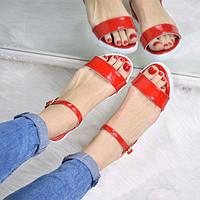 Босоножки женские Arina красные 3290, сандалии женские