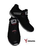 Мужские нубуковые кроссовки SPLINTER, черные, носок черный кожанный