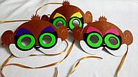 Карнавальная маска Смешые сурикаты (Пуки,Поппи,Пеппи) для сюжетно ролевых детских игр Юхо и его друз