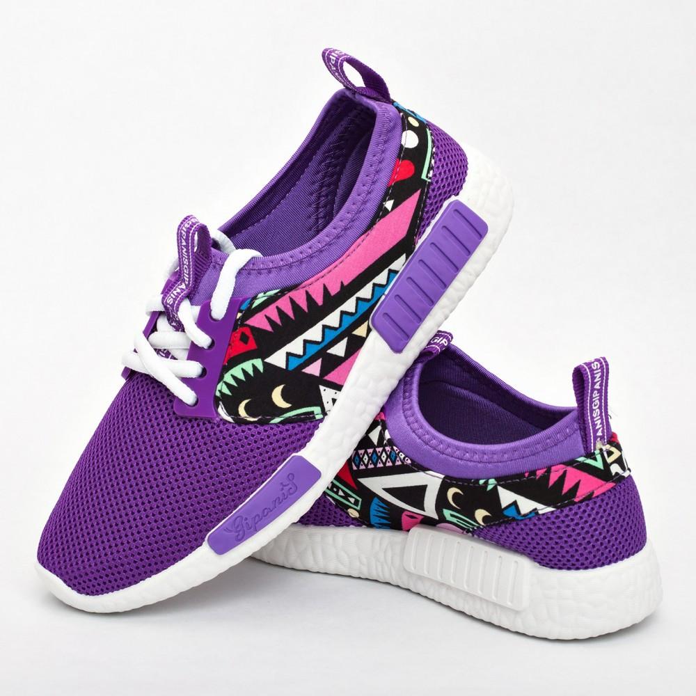 Женские кроссовки фиолетовые (Код: 200)