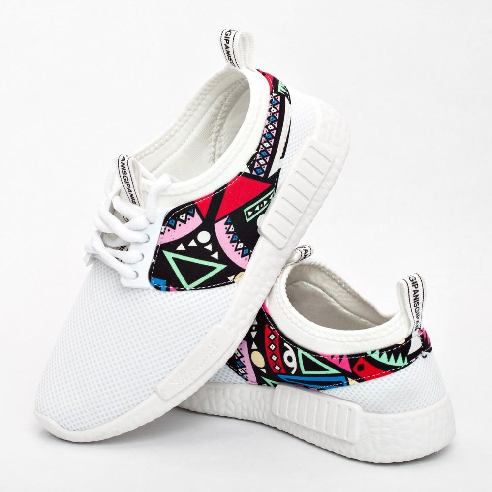 Женские кроссовки белые (Код: 200)