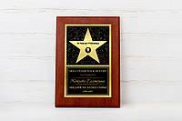 Наградная именная звезда на металле Лучшей ученицы 2017 года