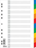 Індекс-розділювач цифровий А4, 10 поз., кольор., с листом опису
