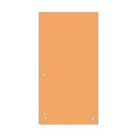 Індекс-розділювач 10, 5х23см (100шт.), картон, помаранчевий