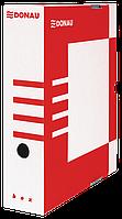 Бокс для архівації докум., 80мм, червоний
