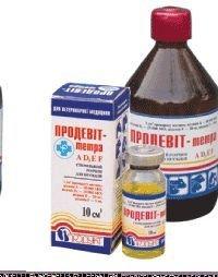 Продевит-тетра 10 мл комплексный витаминный ветеринарный препарат для животных